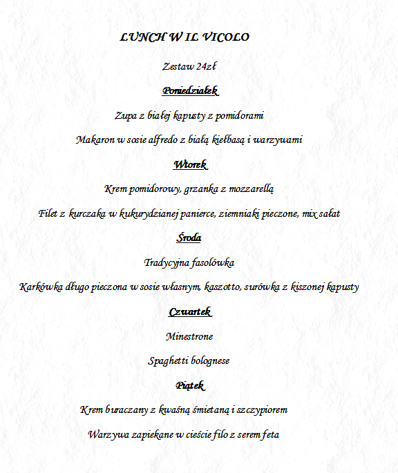 LUNCH 19-23.02